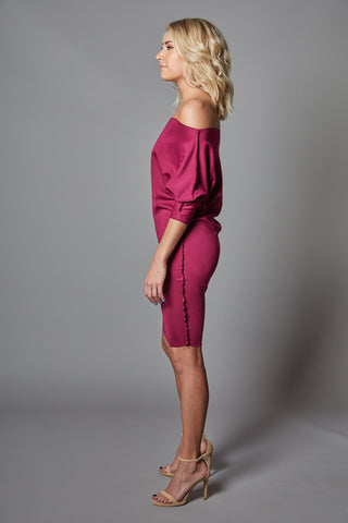 Chloe - Magenta T-Shirt Dress