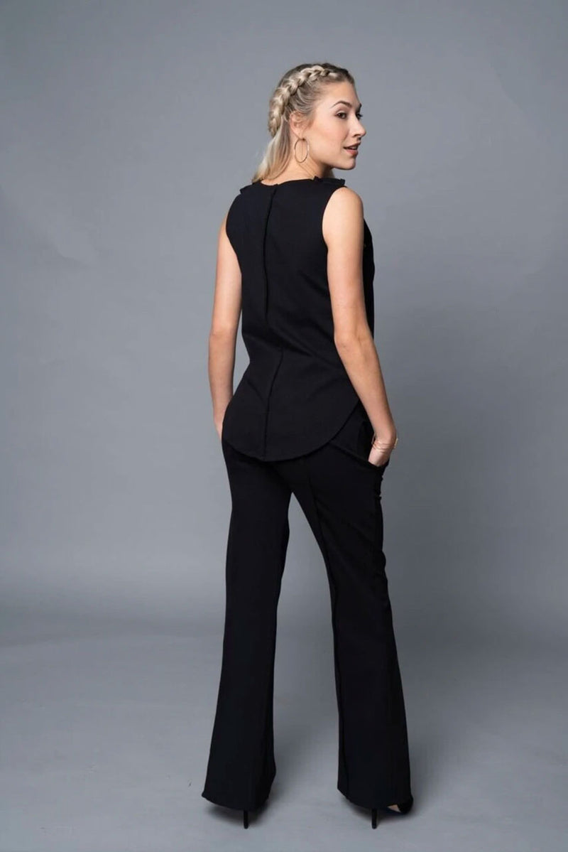 Yetta - Black Wide Leg Pants - TN-113