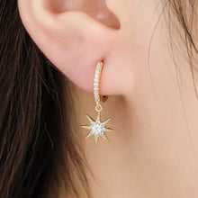 Load image into Gallery viewer, Moon and Star Earrings