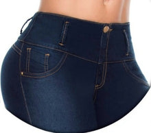 Load image into Gallery viewer, Mayerli Mid Waist Dark Blue Jeans