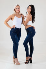 Load image into Gallery viewer, Maritza Mid Waist Dark Blue Jeans