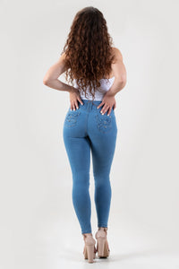 Alicia Push Up Jeans Light Blue