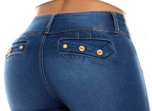 Sofia Push Up Jeans Blue
