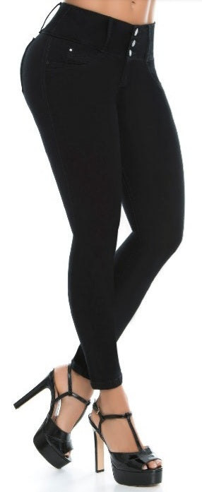 Veronica Push Up Jeans Black