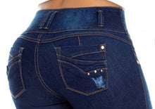 Load image into Gallery viewer, Mariana Push Up Jeans Blue Ripped