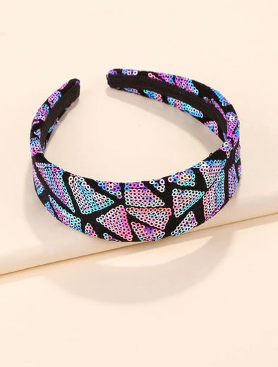 Purple/Blue Multi-color sequins headband