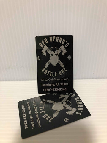 "3.5"" x 2"" Metal Business Cards"