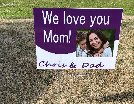 "Customized 24""x18"" yard sign (with portrait)"