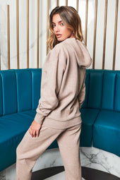 Patricia Bright Raglan Sleeve Relaxed Hoody in Mink