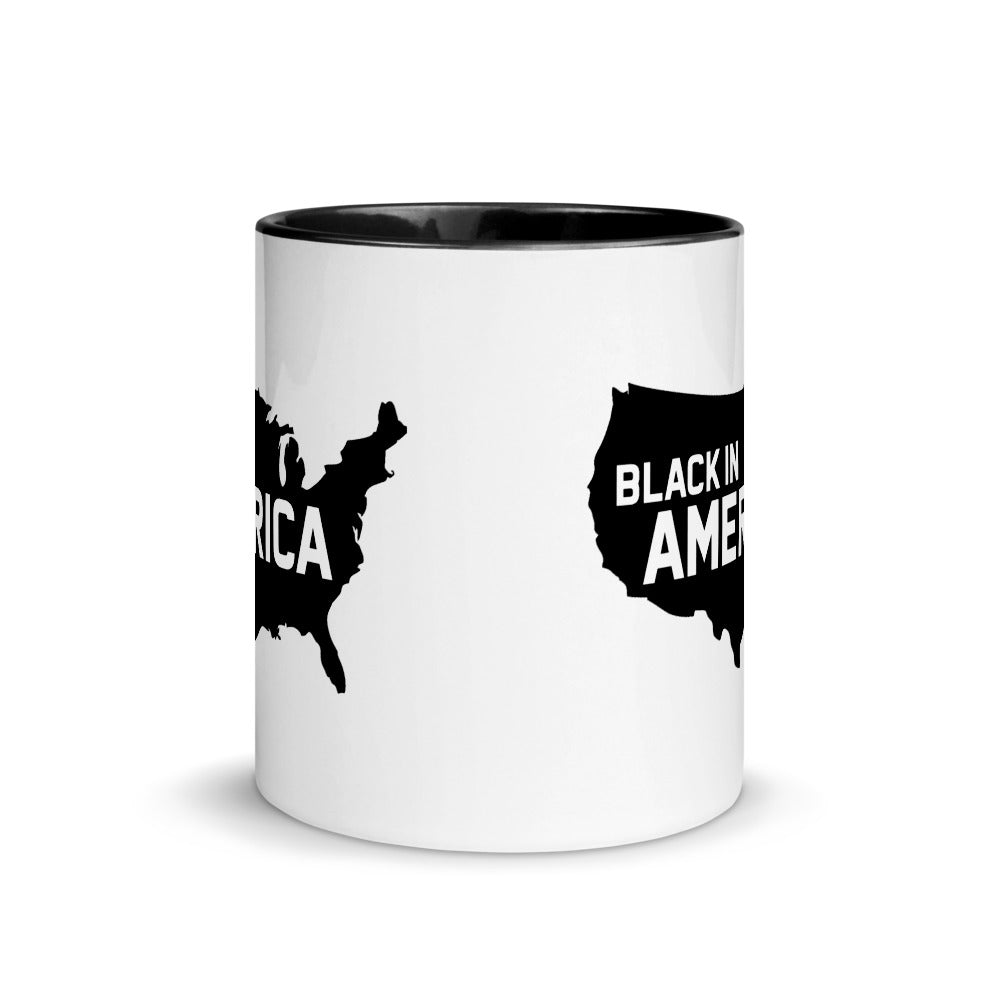 Black In America Mug With Black Color Inside