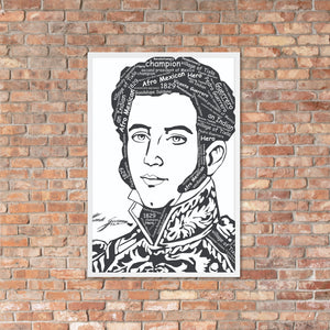 Afro Mexican President Vicente Guerrero Framed poster