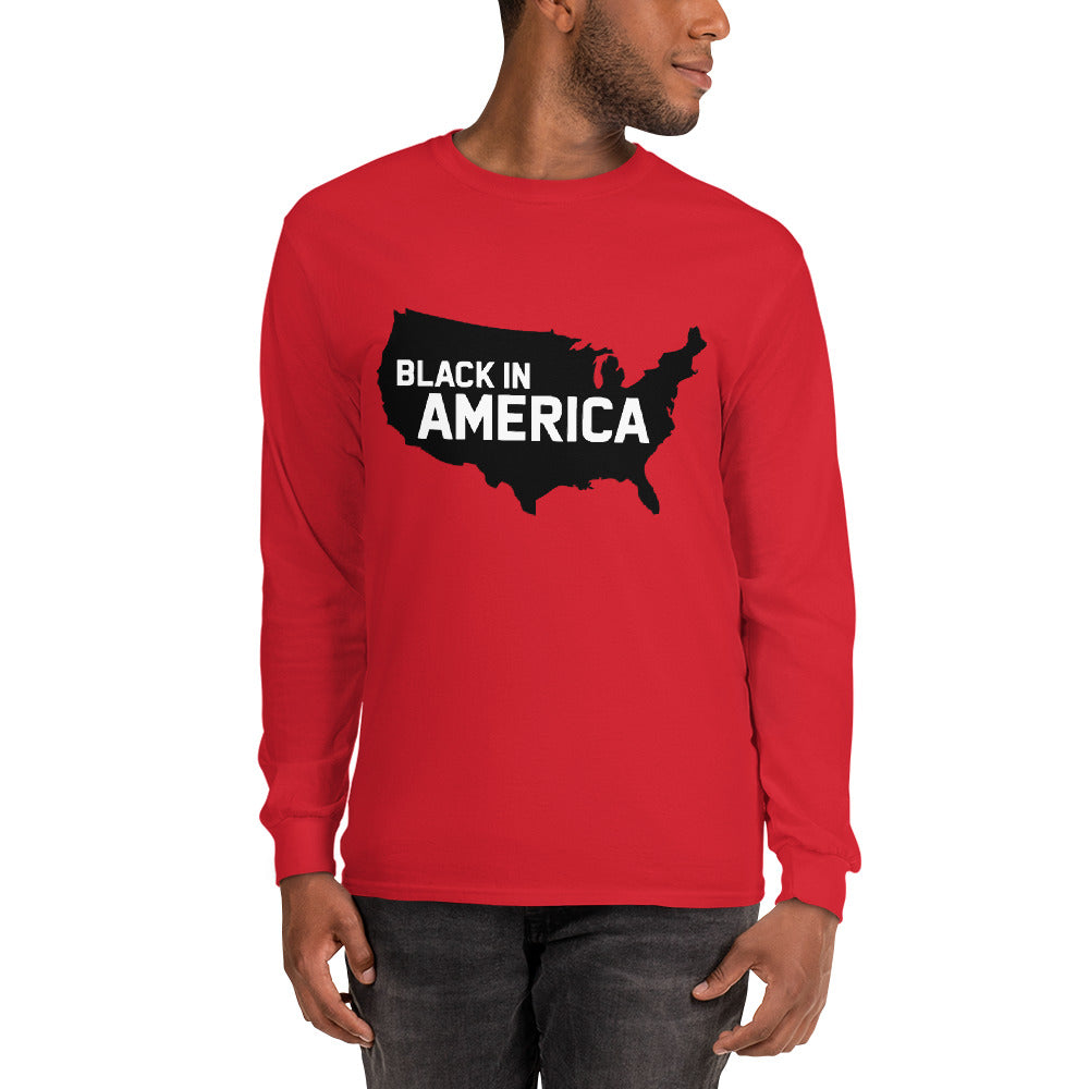 Black In America Men's Long Sleeve Shirt