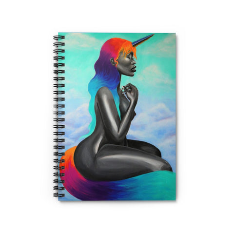 Mythical Beauty Spiral Notebook - Ruled Line