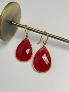 Reina Earrings Carnelian