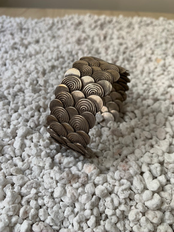 Mermaid Scaled Silver Cuff Bracelet