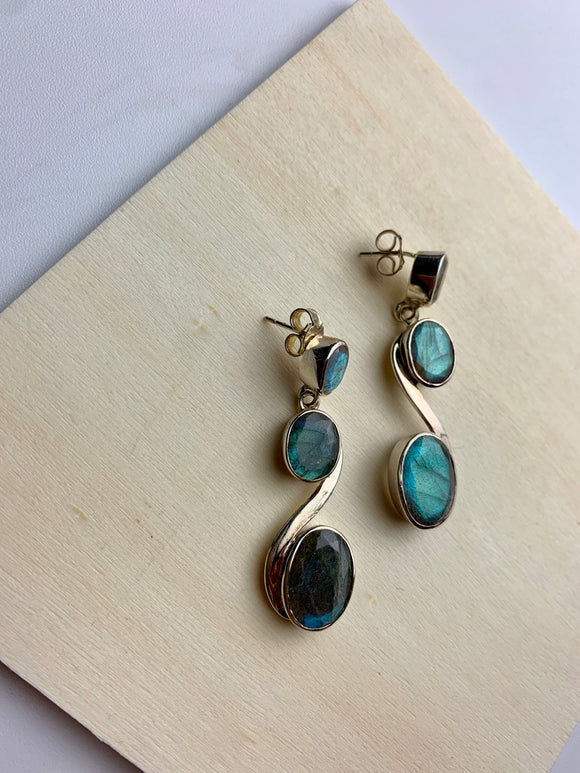 Lawrence Earrings- Labradorite