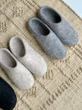Felted Wool Slippers Charcoal