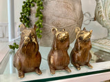 Hear, Speak, See No Evil Brass Mice