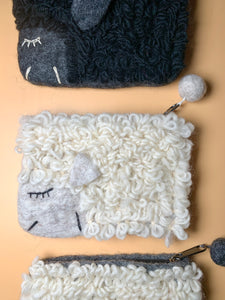 Sleepy Sheep Zipper Pouch