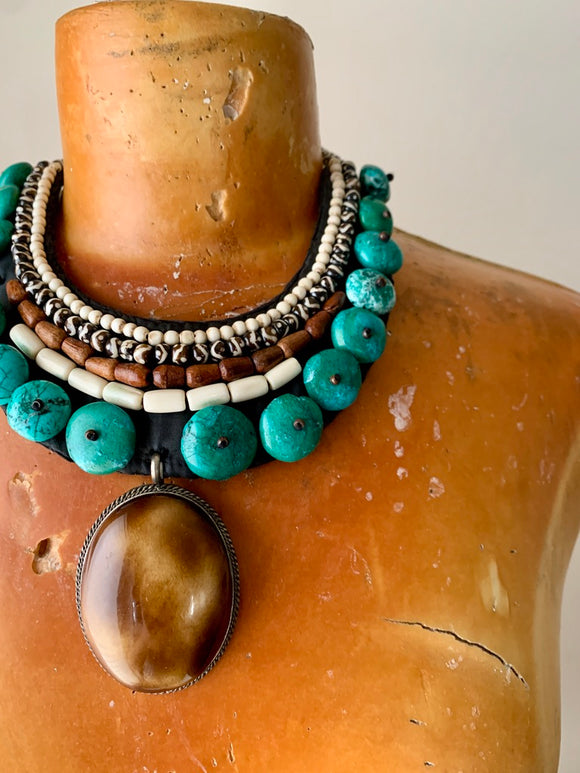Bib Beaded Necklace