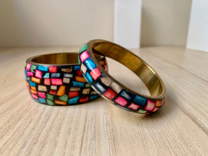 Colourful Resin Bangle Bracelet