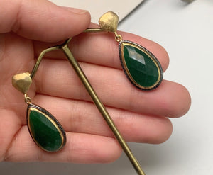 Helena Emerald Earrings