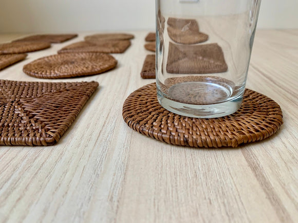Natural Rattan Coasters Set of 6