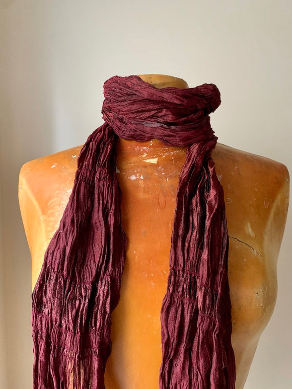 Jewel Toned Raw Silk Scarf