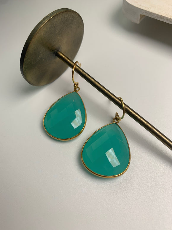 Reina Earrings- Aqua Chalcedony