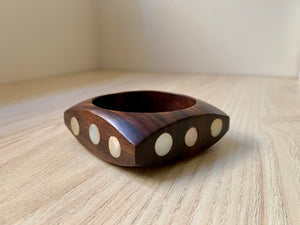 Squared Mother of Pearl & Wood Bracelet