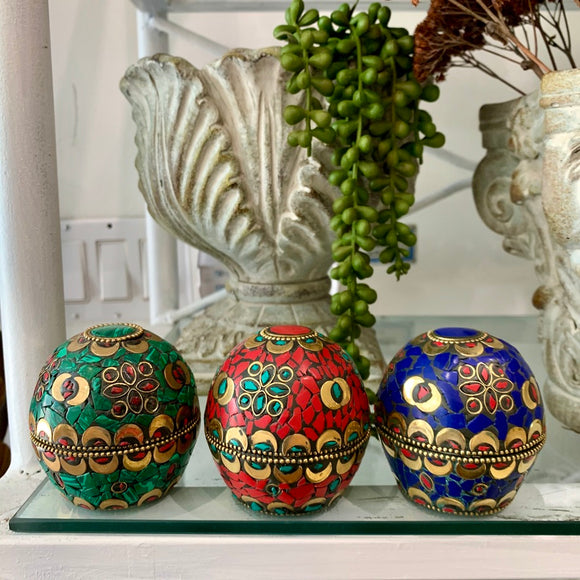 Dome Shaped Trinket Boxes