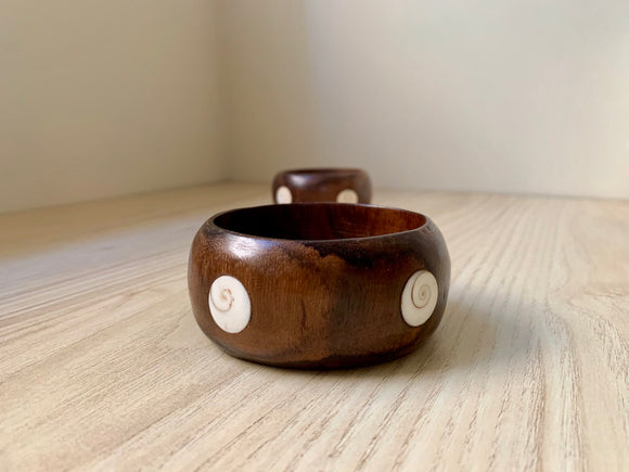 Shell inlay Wood Bracelet