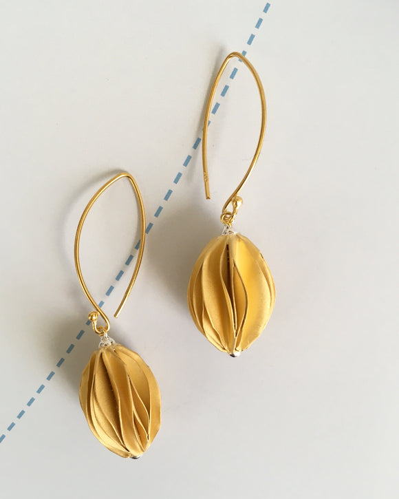 The Golden Ball Drop Earrings