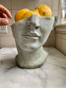 Half Male Face Planter