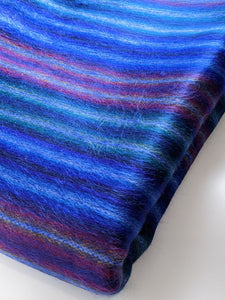 Electric Blue Stripe Throw