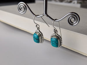 Turquoise Earrings- Silver