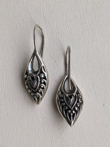 Silver Dagger Style earrings