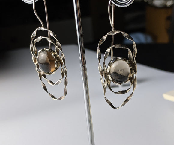 Twisted Sister Topaz Earring
