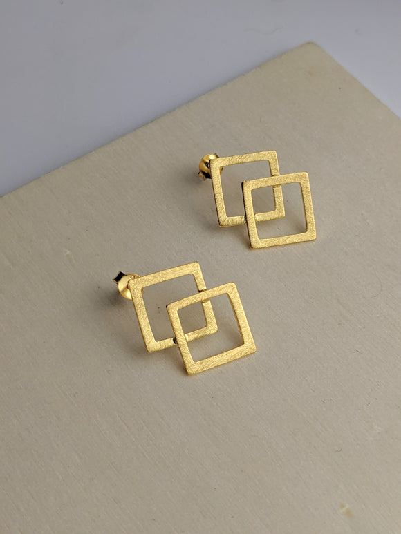 Gold Overlay Studs