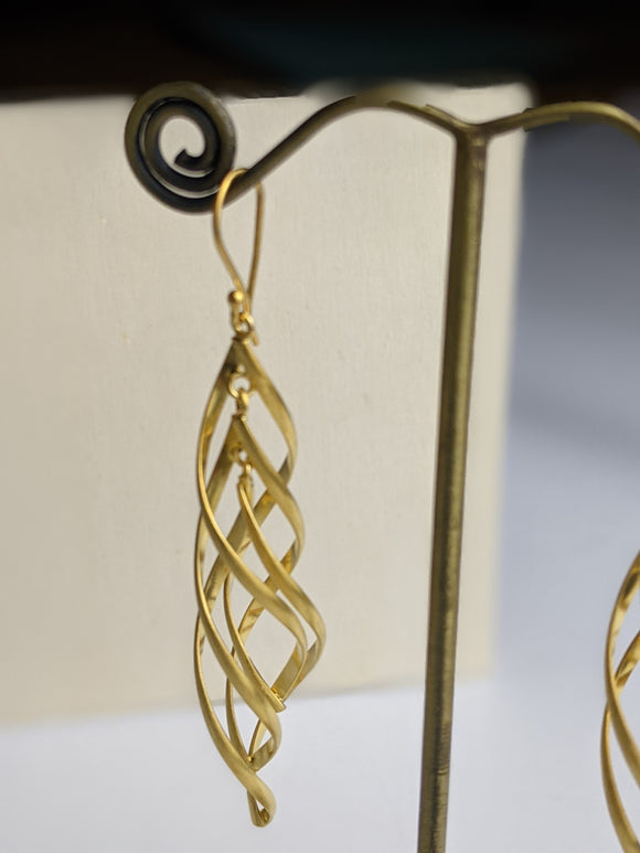 Spiral Dance Earrings- Gold Plated
