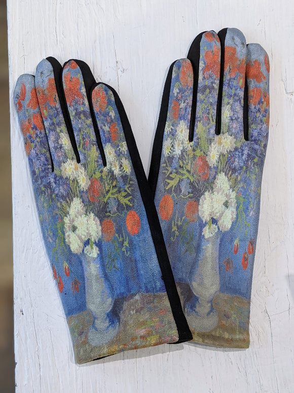Vincent Van Gogh The Blue Vase Gloves