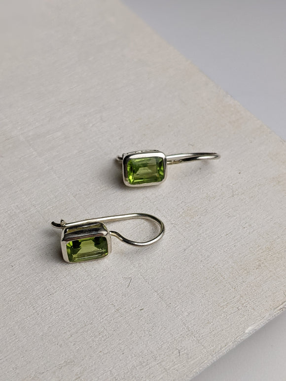 Spring Green-  Peridot Earrings