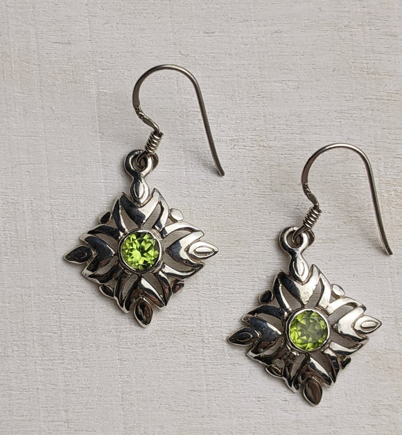 The Green Isle -  Peridot Earrings