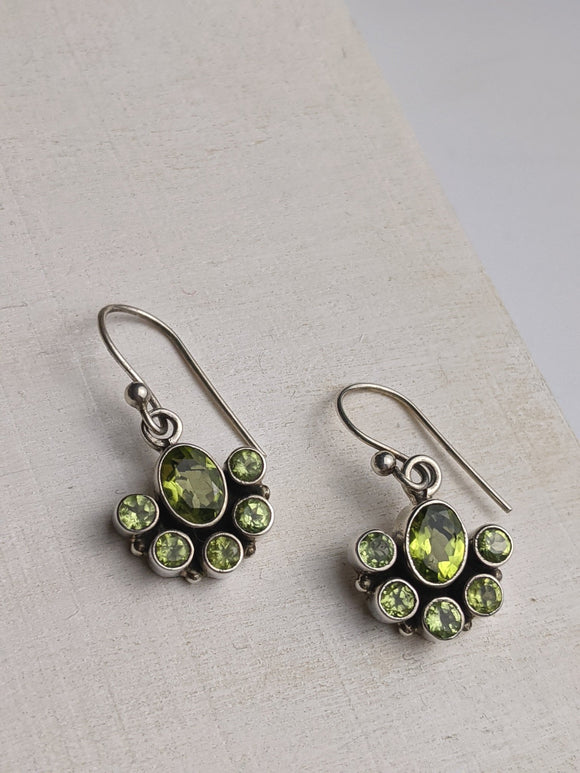 Green Glory- Peridot Earrings