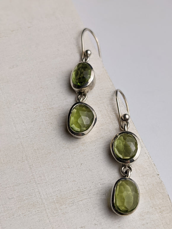 Dew Drops- Peridot Earrings