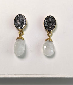 Galaxy Drop Earring- Moonstone