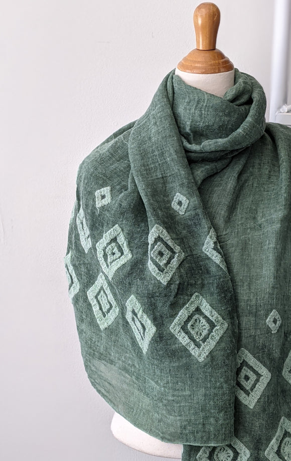 Diamonds Forever Scarf - Green