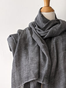 The Travellers Scarf- Charcoal Grey