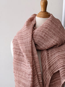 The Accordion Scarf- Soft Pink