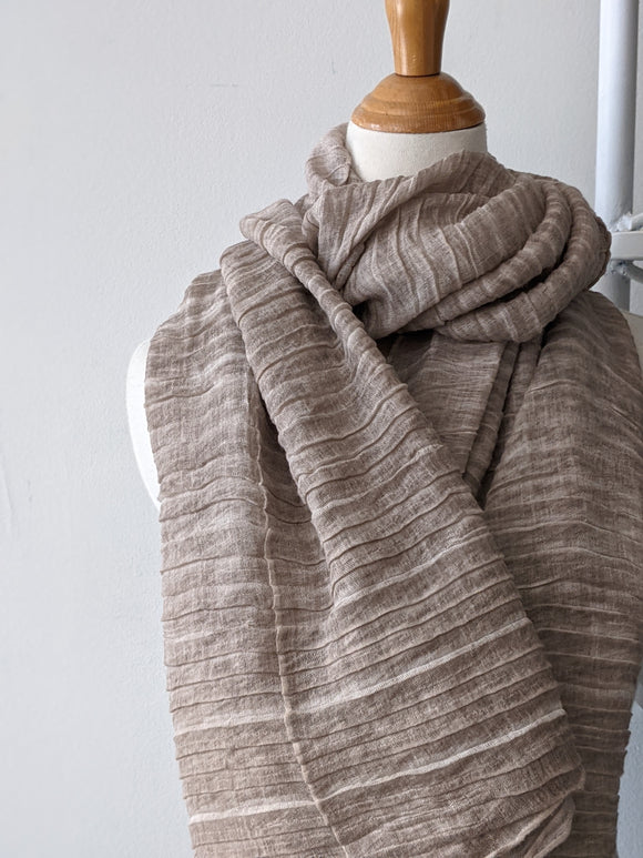 The Accordion Scarf- Taupe